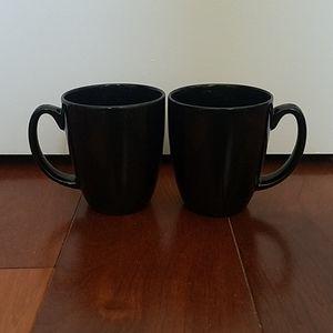 🔴Set of 2 black coffee mugs